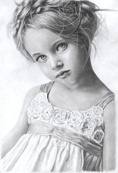 """"""" Little lady """" pencil on paper, FB…"""