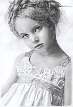 """ Little lady ""   pencil on paper, FB: https://www.facebook.com/pages/The-Portraits-Art/164524207083225?ref=tn_tnmn"