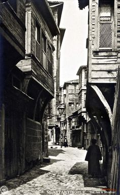 A street in İstanbul, 1906 - f.celebi - - A street in İstanbul, 1906 - f. Old Pictures, Old Photos, Landscape Photography, Nature Photography, Urban Architecture, Turkish Architecture, Historical Pictures, Old City, Urban Landscape