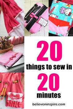 20 minutes Sewing Projects. Sharing sewing project ideas that take only 20 minutes or lesser! These make great sewing projects for beginners too.