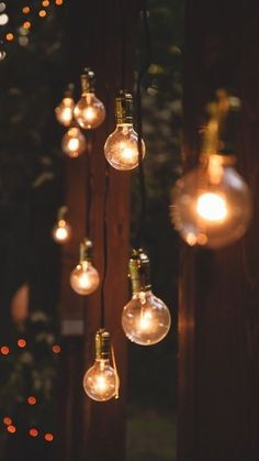 Hanging lights, fairy lights, lanterns and anything else I can think of on trees and the back deck would be a great idea to improve the atmosphere. Belle Photo, Outdoor Lighting, Lighting Ideas, Wedding Lighting, Backyard Lighting, Unique Lighting, Bohemian Lighting, Table Lighting, Edison Lighting