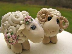 I Love Ewe Custom Keepsake Wedding Cake Topper от theaircastle