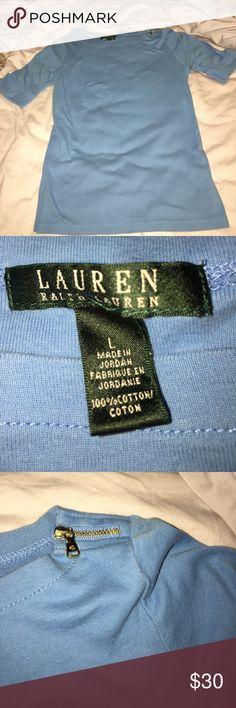 Ralph Lauren top Light blue Ralph Lauren top! Excellent condition & perfect for summer! Ralph Lauren Tops