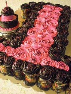 Cupcake Birthday Cakes for Girls | Deleecious Cakes: A First Full of Cupcakes