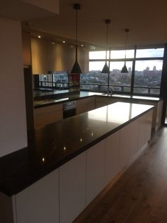 A quality kitchen with top end fixtures and fittings to match the top view