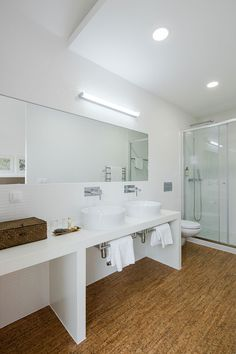 Tour Miguel Correia's Green Design for Sobreiras-Alentejo Country Hotel. #design #interiors #interiordesignmagazine #projects #bathrooms
