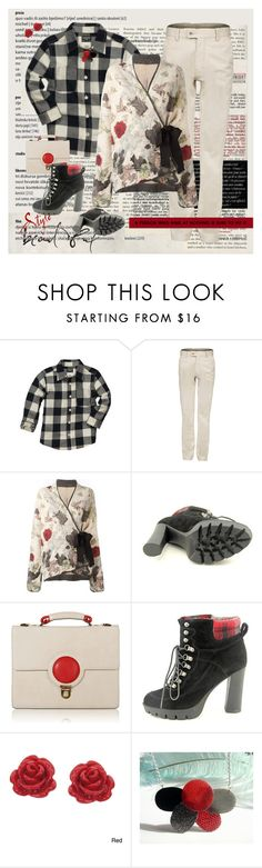 """Aim High"" by halebugg ❤ liked on Polyvore featuring Antonio Marras, Nine West, Flaska Laverne, Eternally Haute, plaid, floralprint and patternplay"