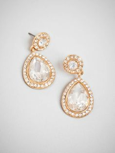 We're in love with the simplicity here; just a stud with a tear-shaped drop, but there's something oh-so-extravagant about these earrings, too. If you ask us, it's those beyond-massive crystals framed in sparkling pave for a look that is so very La Liz (as in Taylor, of course)