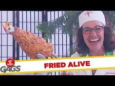Chicken Fried Alive - Prank Videos - Joke King Prank Videos, Pranks, Fried Chicken, Fries, King, God, Dios, Practical Jokes, Roasted Chicken
