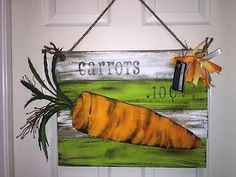 Carrots Handmade wall hanging pallet wood sign Spring decor, Easter decor