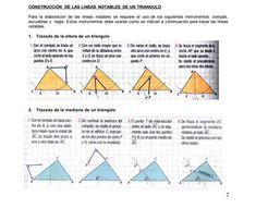 Antes de usar Geogebra u otro software de geometría dinámica es importante saber como construir cada una de las líneas notables de un triángulo usando regla y compás, en este documento se explican los pasos para su construcción. Software, How To Build, Dots