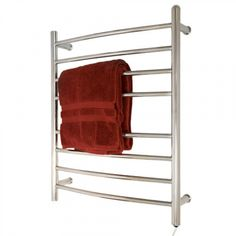 """24"""" Contemporary Curved Plug-In Towel Warmer"""