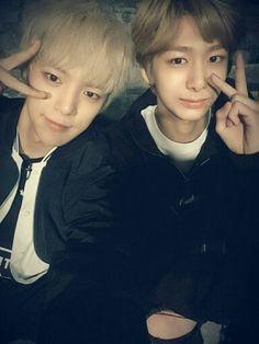 My two biases ^^ ❤❤ #minhyuk #hyungwon