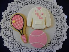 Tennis Gift Cookies by ruthiescookies on Etsy, $48.00