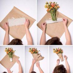 15 Trendy Flowers Bouquet Present Floral Arrangements Flower Bouquet Diy, Bouquet Wrap, Gift Bouquet, Paper Bouquet, Flower Diy, Flower Ideas, Flower Shop Decor, Cake Pop Bouquet, Bouquet Holder