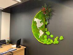Moss Wall Art, Moss Art, House Plants Decor, Plant Decor, Indoor Farming, Indoor Water Garden, Vertical Garden Design, Minimalist Garden, Green Wall Art