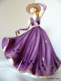 Purple Lady Figurines | ... Lady Emma, Antique Figurines, Lady Figurines, China Figurines, Purple