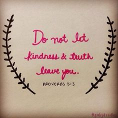 Proverbs 3:3 Kindness Truth