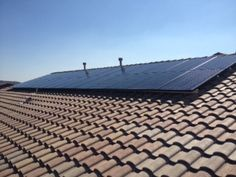 Part of 11.5kW solar system facing south