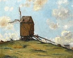Johan Barthold Jongkind Monet, European Paintings, Classical Art, Le Moulin, Windmill, Painting & Drawing, 19th Century, Original Artwork, Modern Art