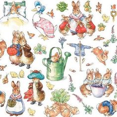 #takemebacktuesday to the world of Peter Rabbit and friends. Happy birthday to Beatrix Potter, thank you for all the childhood memories. @townandcountryliving