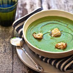 Green Veggie Gazpacho - Vegan (sub dairy-free yogurt)