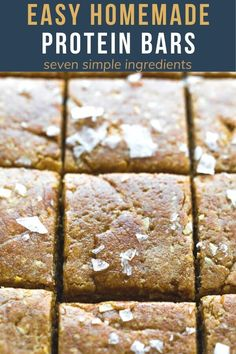 Make these easy homemade protein bars taste that like a cinnamon roll, and have 7 g protein per bar! Easy to prepare with simple ingredients, and they taste way better than store bought. #sweetpeasandsaffron #proteinbars Healthy Chips, Healthy Foods, Healthy Recipes, Best Breakfast Recipes, Snack Recipes, Study Snacks, Work Lunches, Protein Bars, Amazing Recipes