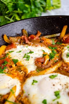 Mexican Chorizo sausage adds a kick to bell peppers, tomato and eggs poached right in the sauce. Serve with warm bread or flour tortillas.