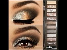 Easy tutorial for everyday eyeshadow.  Naked 2