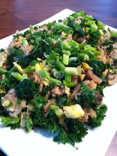 Kale Fried Rice - super easy to make and the kids loved it! Full of vitamin A, calcium & antioxidants.