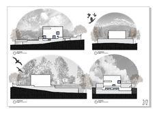 Imagem de arquitetura, raumplan, and fachada