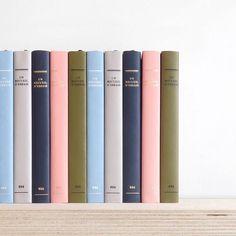 Pretty color scheme from @presentandcorrect  #art #artist #photo #artgallery #gallery #colors #pink #blue #darkblue #decor #books #shelf #stationery #office #beige #green