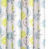 Found it at Wayfair - Scribble Flower Polyester Textile Shower Curtain