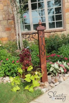 DIY House Numbers Post and Planter Tutorial