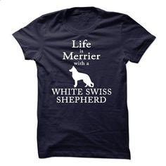 Love White Swiss Shepherd sfs110415 - silk screen #shirt for girls #geek hoodie