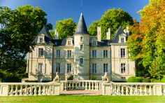 Photo about Chateau Pichon Lalande palace in region Medoc, France. Image of outdoor, building, gironde - 32966737 Caves, Chateau Bordeaux, Bordeaux France, Roederer Champagne, The Places Youll Go, Places To Go, Wine Chateau, Montecarlo Monaco, Weather In France