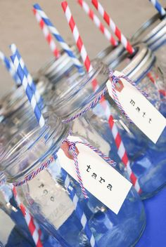Fourth of July drink labels #DIY #Idea