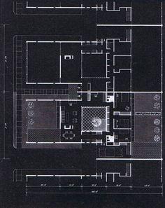 josep lluis sert // own house Home Design Plans, Plan Design, Revit Architecture, Architect Drawing, Design Development, House Floor Plans, Design Projects, Technical Drawings, Architectural Drawings