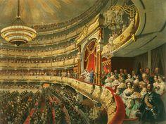Зичи М. А. Спектакль в Большом Московском театре