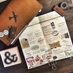 Week 15 in my camel travelers notebook. excited #midoritravelersnotebook…