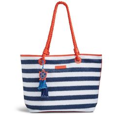 81f4b08bd594 Vera Bradley Striped Beach Tote Bag ( 36) ❤ liked on Polyvore featuring bags