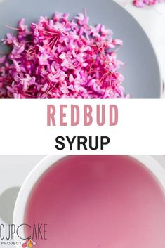 Delicious redbud syrup. Check out the link for a fun story on how your redbuds can be repurposed into a fun DIY syrup! Bite Size Desserts, Desserts For A Crowd, Fancy Desserts, Best Dessert Recipes, How To Make Red, Food To Make, Winter Desserts, Birthday Desserts, Wild Edibles