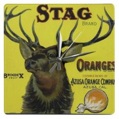 MAJESTIC STAG WALL CLOCK