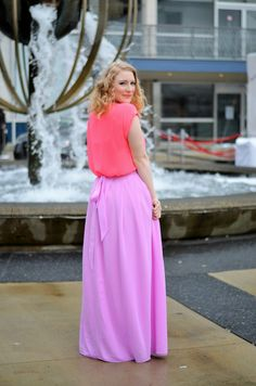 Vancouver Vogue at Vancouver Fashion Week: wearing spring pastels & neon. @kassinka maxi skirt