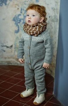 Raglan grey overall / jacquard jumper / raglan baby alpaca wool knitted suit / Eco friendly jumpsuit / boy / girl / toddler / baby Little Fashion, Baby Boy Fashion, Kids Fashion, Winter Fashion, Baby Outfits, Kids Outfits, Baby Overall, Baby Kind, Stylish Kids