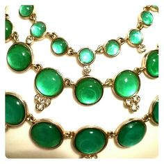 Anne Klein Ombre Necklace Anne Klein costume jewelry. Worn 1 time. Beautiful, elegant. Turquoise colors graduating from dark to light. Looks like the Caribbean. Adorned with jewels as well. Anne Klein Jewelry Necklaces