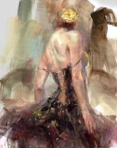 FLAMENCO....PAINTING....BY ANNA RAZUMOVSKAYA.....ON ANNA ART.....