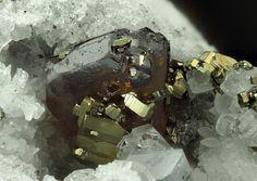 Wurtzite with Pyrite - Lengenbach Quarry, Fäld, Binn Valley, Wallis, Switzerland FOV : 6.5 mm