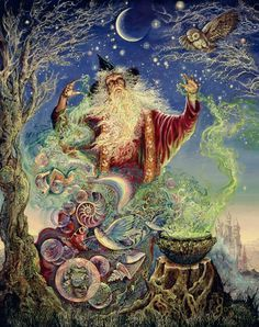 """Merlin Magic 1"" par Josephine Wall"