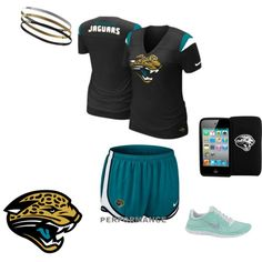 Jaguars Workout Gear, created by jaxjaguars on Polyvore